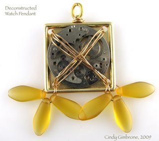 Steampunk watch/propellers jewelry by Cindy Gimbrone