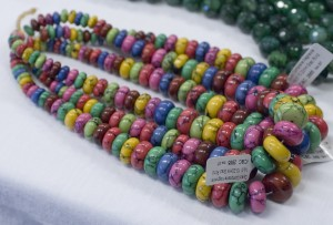 Dyed composite magnesite beads were an attention-getter!