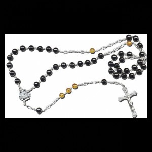 David's Rosary uses the black tourmaline beads