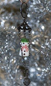 Lampwork snowman