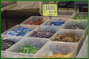#4:  Make a long list of glass beads...
