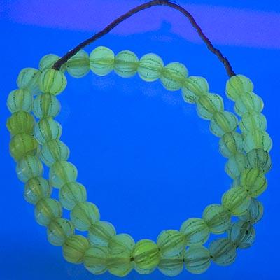 Uranium salt/vaseline beads AFTER