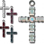 Rhinestone crystal cross charms