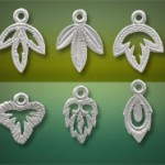Sterling leaf charms