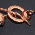 Closeup of necklace clasp, by Kym Hunter