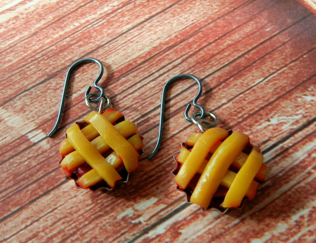 easy cherry pie earrings