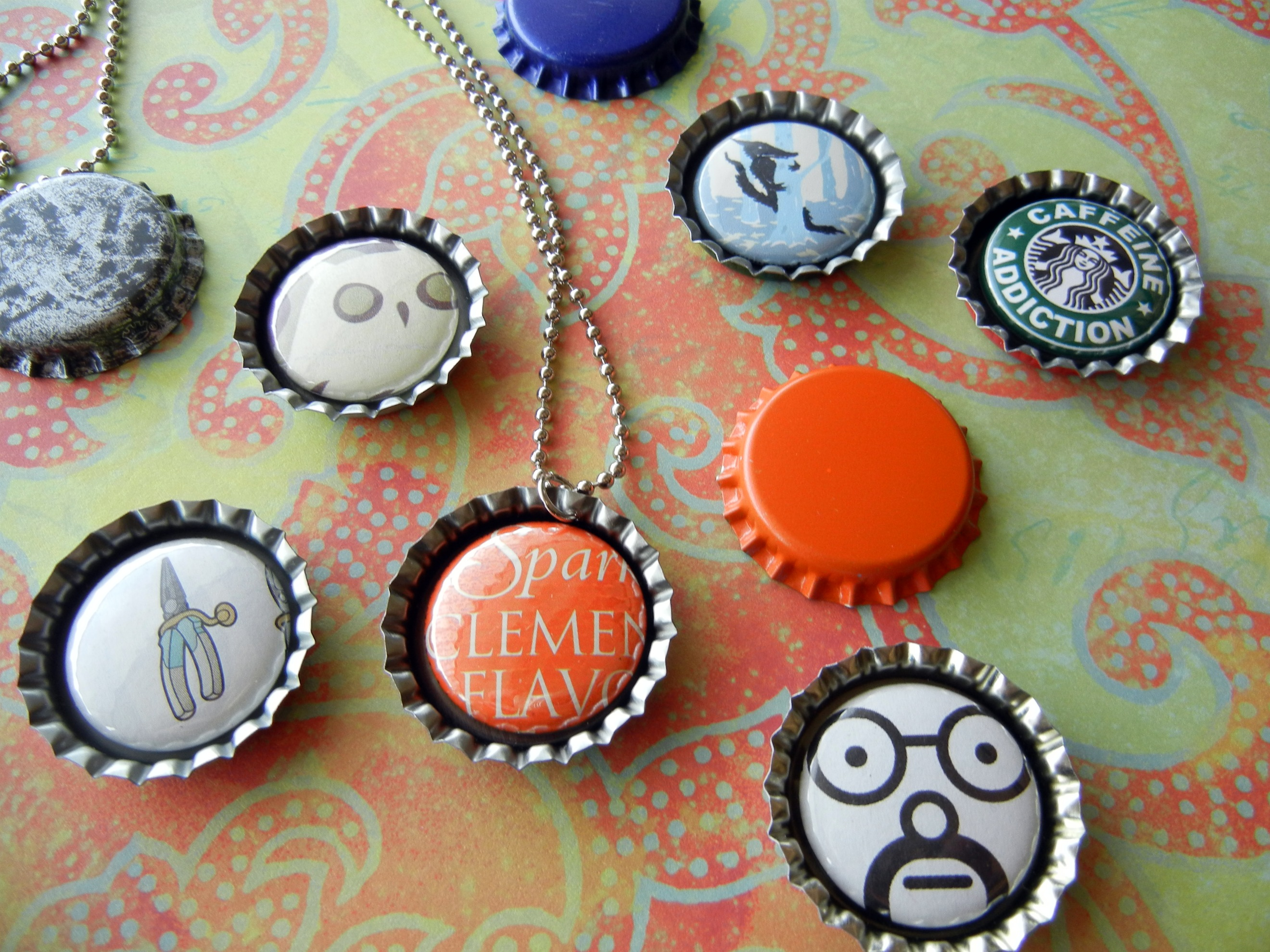 How to make interchangeable magnetic jewelry with 1 buttons rings bottle cap magnet button pendant aloadofball Image collections