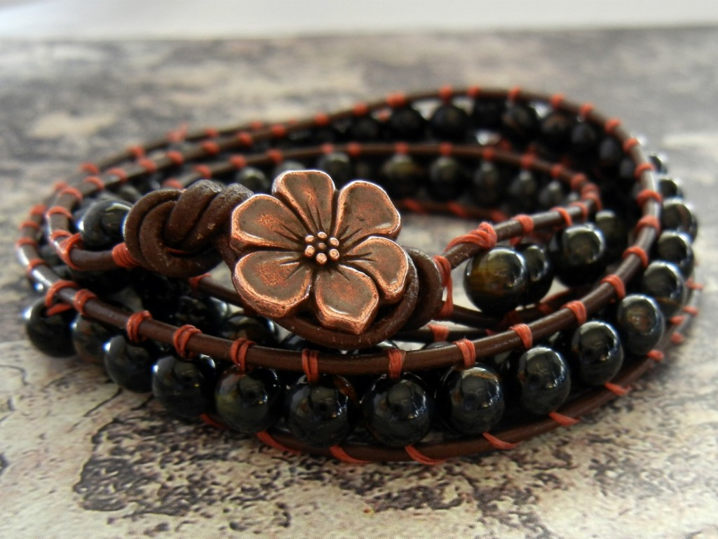How To Make Wred Leather Bracelets