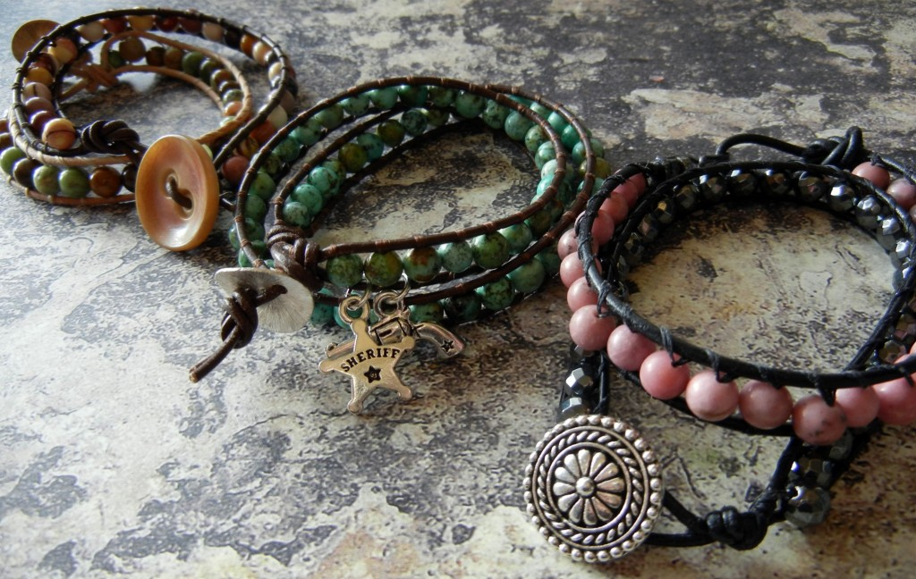New How to make wrapped leather bracelets – Rings and Things RO11