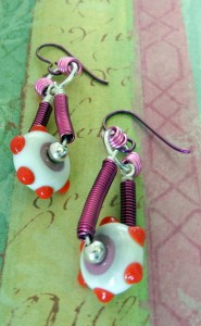 Pink Artistic Wire earrings