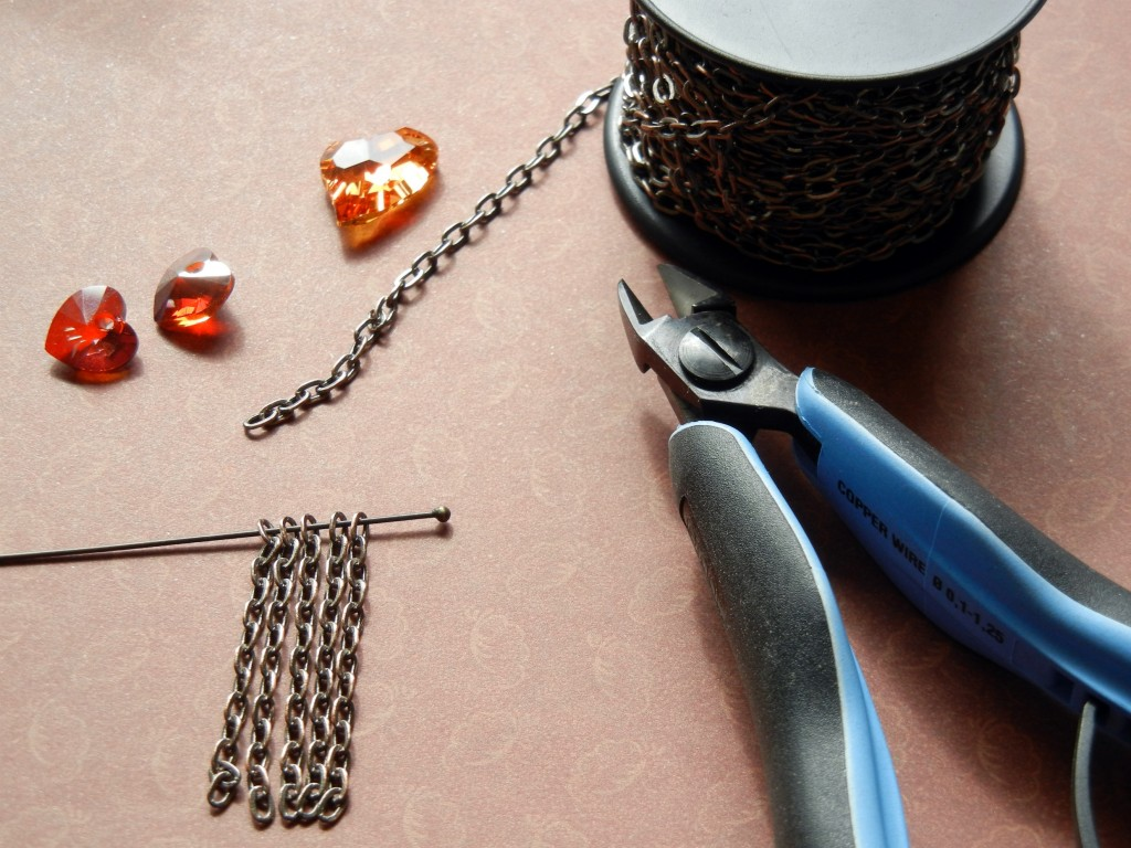 how to cut equal chain lengths for jewelry