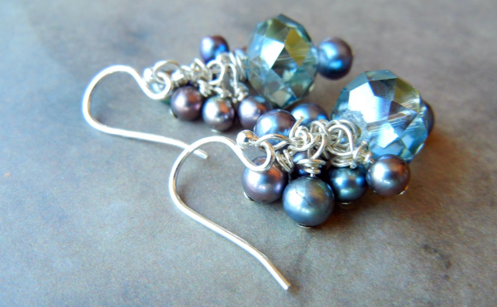 silver filled earrings