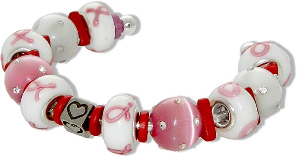 cause ribbon beaded bracelet