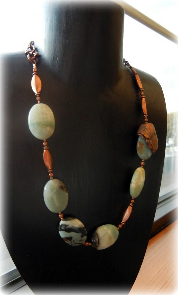copper-clay-gemstone-necklace