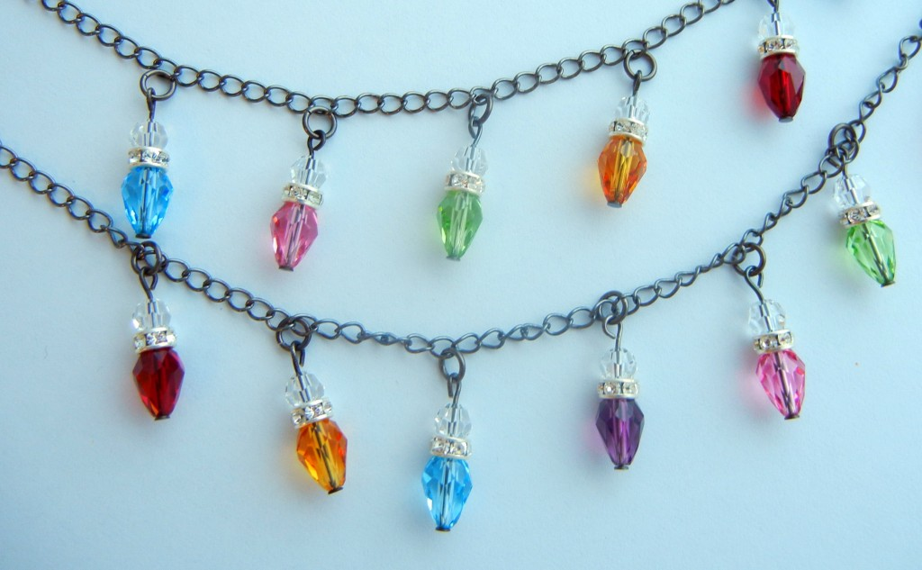 crystal holiday light charms