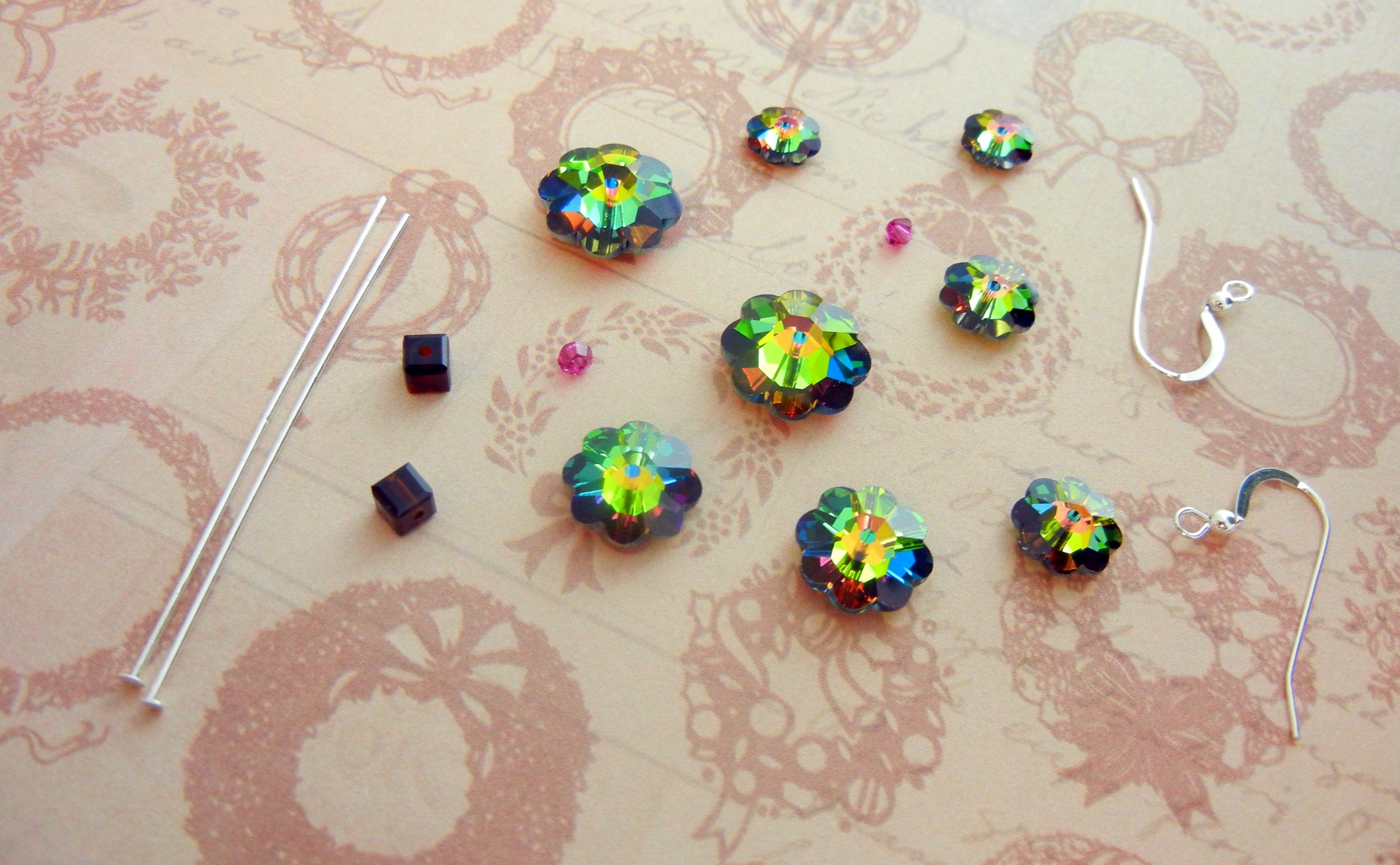 Crystal Tree Earring Parts
