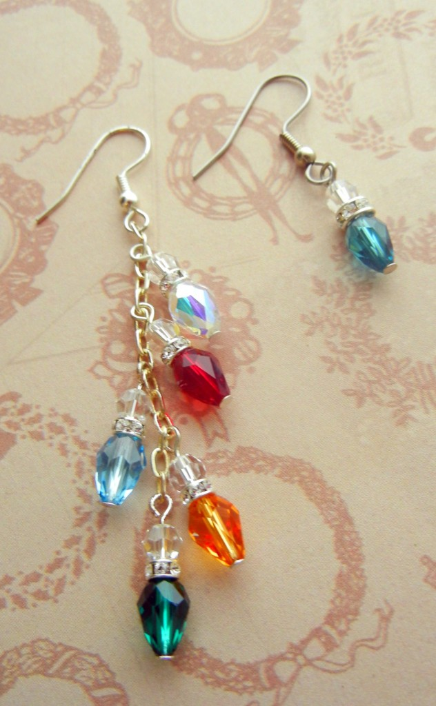 crystal light earrings