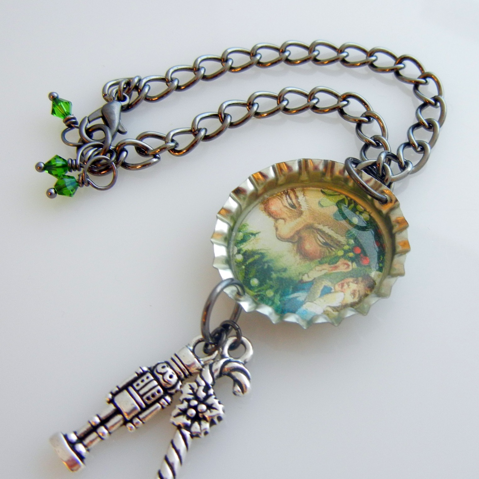 Wine Jewelry Funny Christmas Bottle Cap Necklace