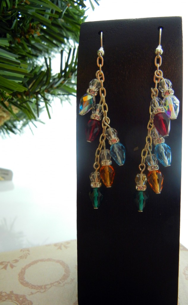 string of lights earrings
