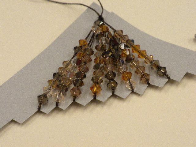 Step 5 - How to make Swarovski Crystal and WireLace Tassels