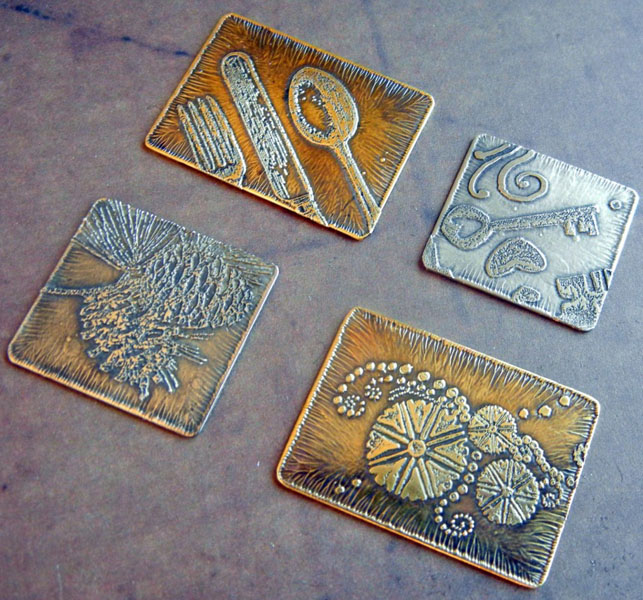 etched stamped metal for jewelry