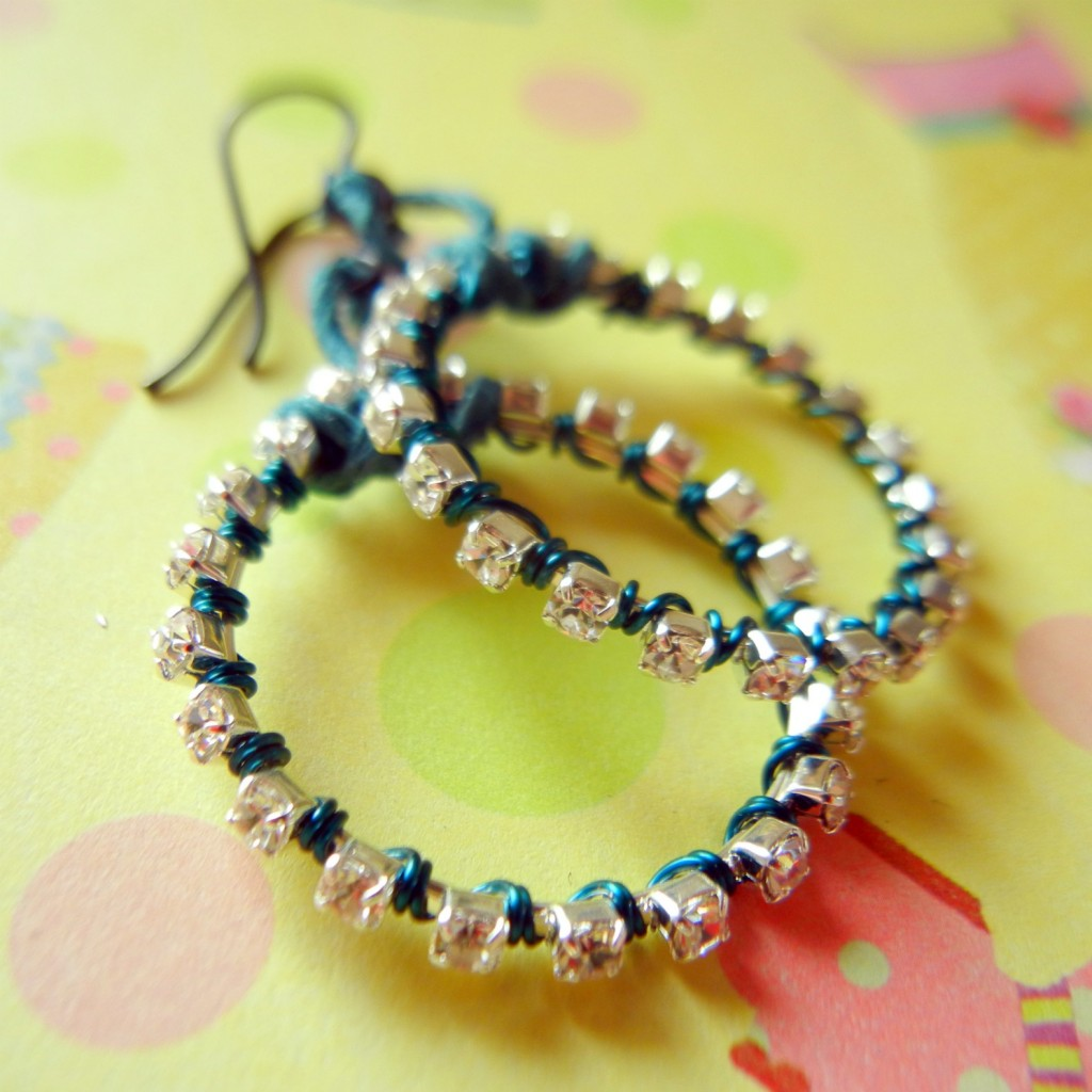 rhinestone-chain-earrings