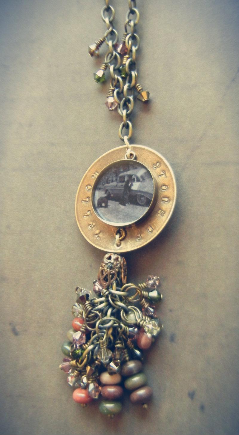 Cindy's Bears bezel necklace