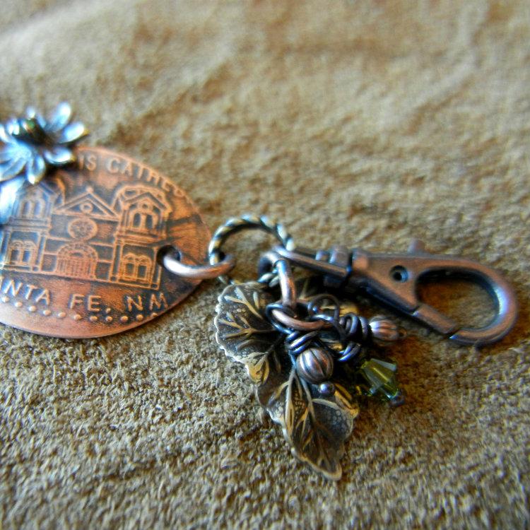 vintaj-leaf-crystal-clasp sondra barrington vintaj swarovski pressed penny