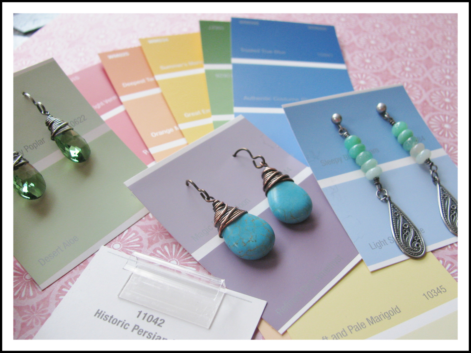 Coordinate Your Earrings To Have Matching Colored Cards