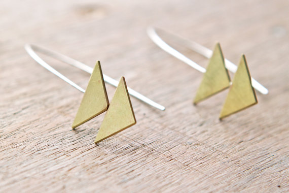 I love these Double Triangle Earrings by Betty at Foxtail Boutique! Make sure and check out her shop for tons of cool triangular jewelry!