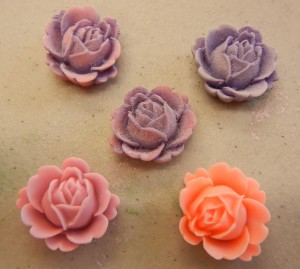 colored resin flowers
