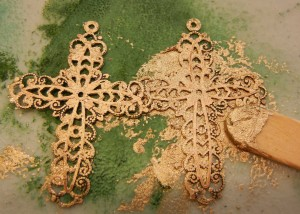 german silver filigree cross