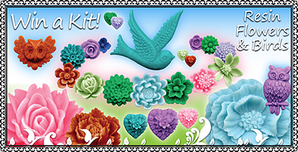 win a resin flower gluing kit