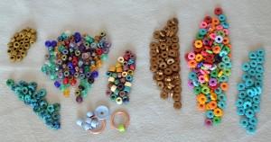 Beads for macrame bracelets.