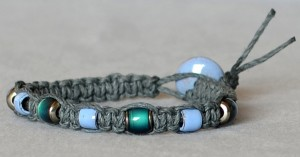 Square knot macrame bracelet.