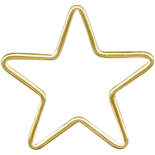 12kt Gold Star Jewelry Link