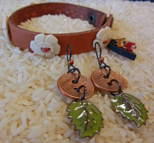 Boston Bracelet and New Leaf Earrings