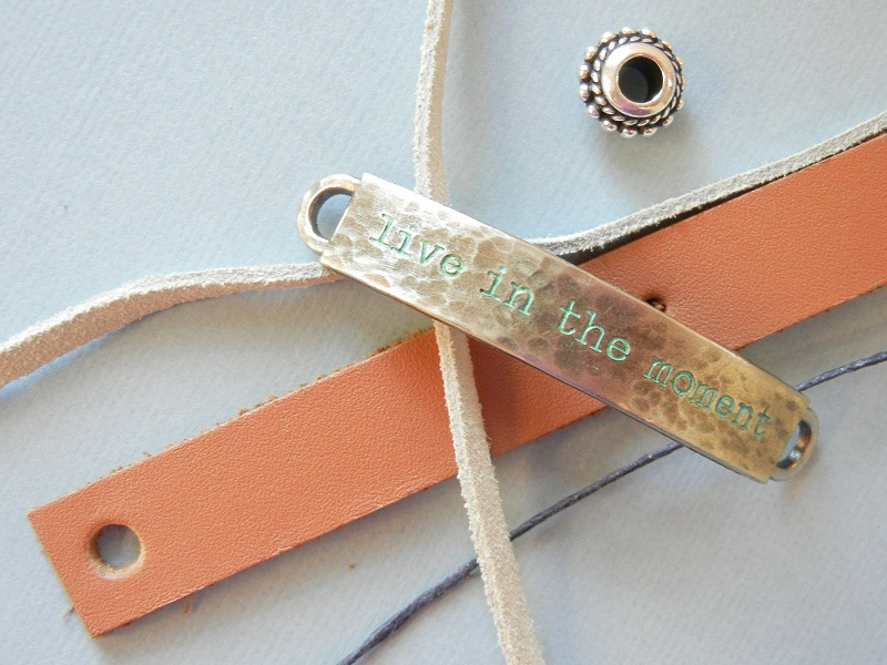 Tutorial: how to make a leather bracelet with drawstring clasp; a step-by-step DIY jewelry project.