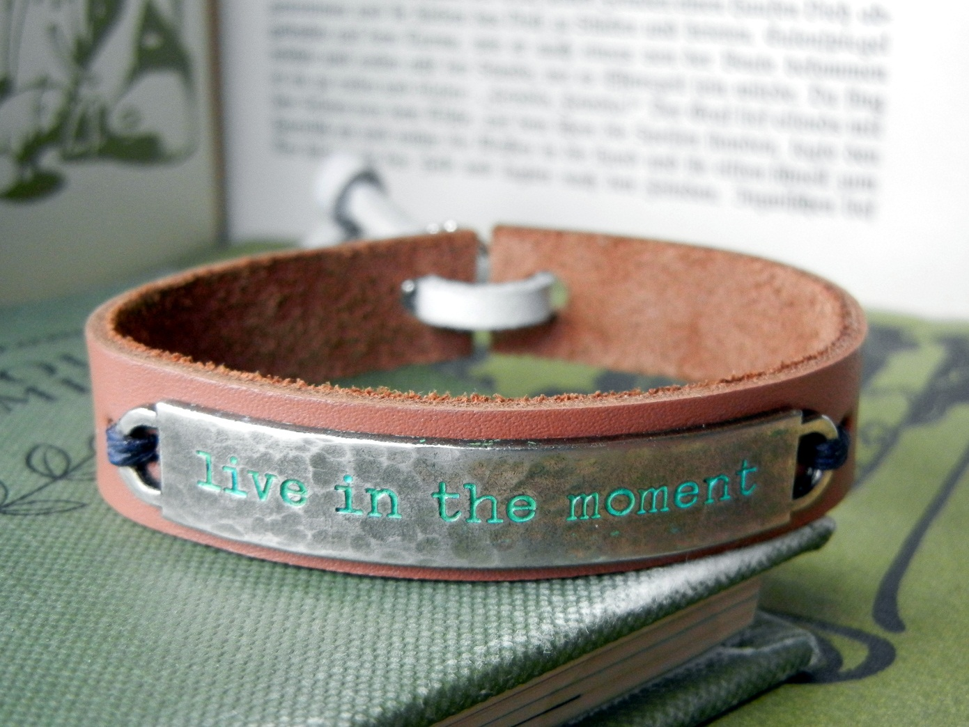 To Finish A Bracelet, Just Stitch Or Rivet The Ideaology Word Band Bracelet