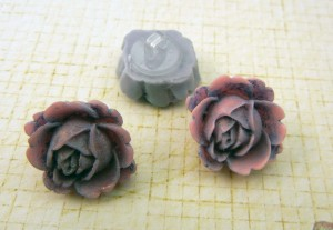 Resin Flower Buttons