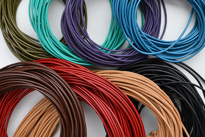 Choose from several colors of leather cord.