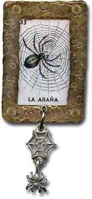 Metal work framed spider bar pin.