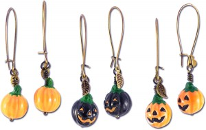 Easy jack o' lantern earrings project.