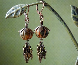 Autumn harvest earrings project.