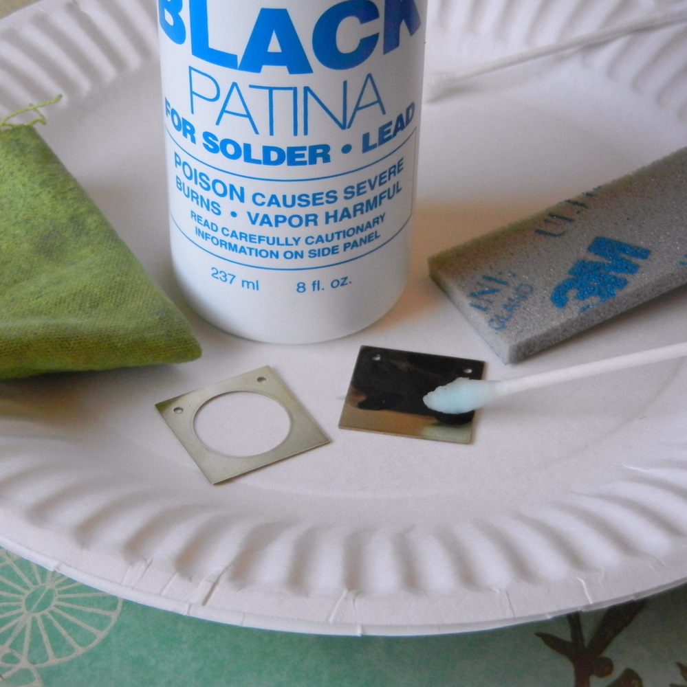 How to patina a brass jewelry blank with Novacan Black Patina.