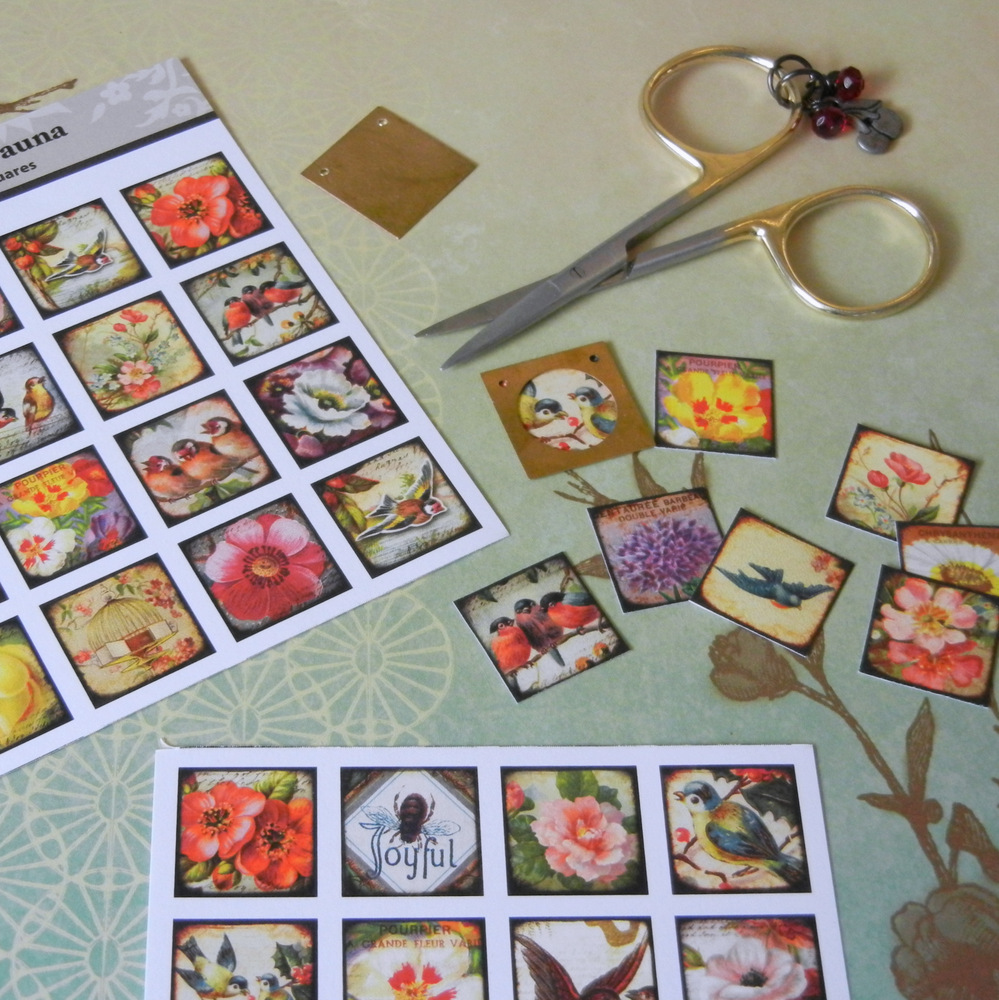 How to make a journal necklace with Piddix image sheets.