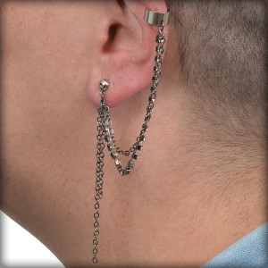 Classic ear cuff made with pre-formed cuff blanks.