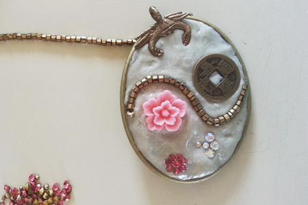 Embellishing jewelry clay