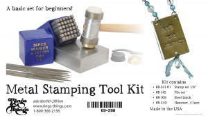 #69-298 Rings & Things Exclusive Metal Stamping tool kit for beginners.