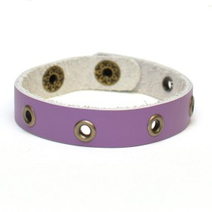 Behold, the Eye of the Orchid leather bracelet!